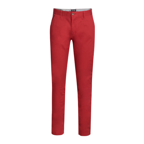 Cotton Stretch Chino // Burnt Red (30WX30L)