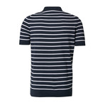 Striped Polo // Navy White (M)