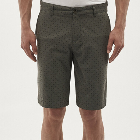Dotted Short // Olive Green (32)