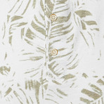 Palm Polo // White + Olive (2XL)