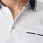 Maxwell Polo // White + Navy Blue (S)