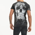 Skull Back T-Shirt // Black (S)
