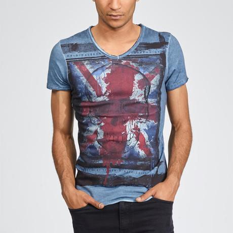 Kingdom of Skulls T-Shirt // Blue (S)