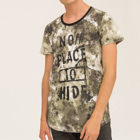 No Place 2 Hide T-Shirt // Khaki (S)