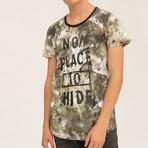 No Place 2 Hide T-Shirt // Khaki (S)