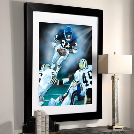Walter Payton // The Great Leap // Art Print