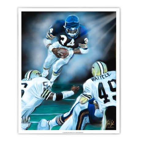 "Walter Payton ""The Great Leap"""