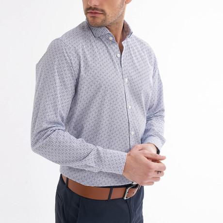 Fidelio Button-Up Shirt // White + Navy (S)