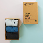 Socks that Give Water // Black + Blue (Small)