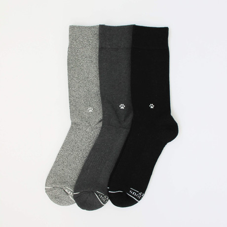 Socks that Save Dogs // Black + Gray (Small)