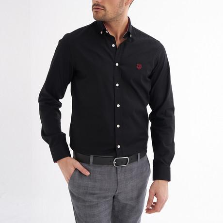 Emilio Button-Up Shirt // Black (S)
