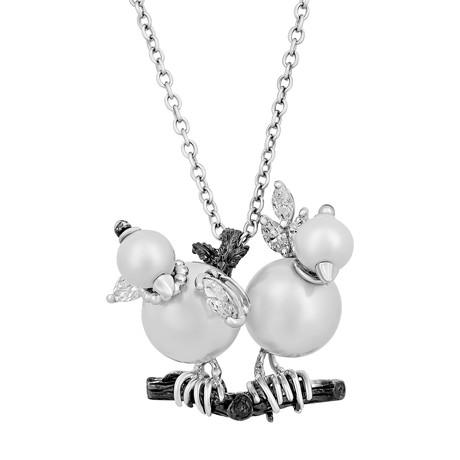 Stefan Hafner 18k Two-Tone Gold Diamond Necklace