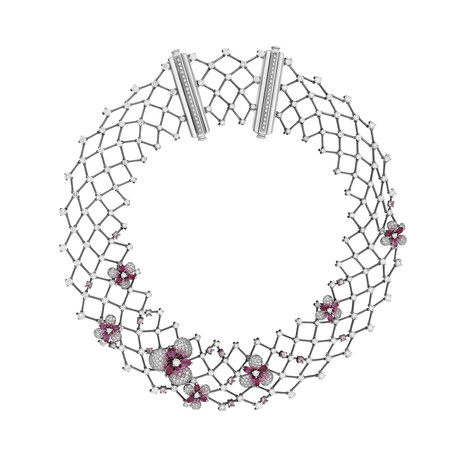 Stefan Hafner 18k Two-Tone Gold Diamond + Sapphire Necklace