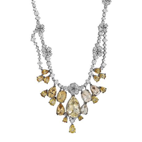 Stefan Hafner 18k White Gold Multi-Stone Necklace