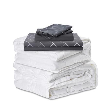 The Ervét System // Grey Cotton Tencel // King (LightWeight + LightWeight)