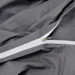 The Ervét System // Gray Cotton Sateen // King (UltraLight + UltraLight)