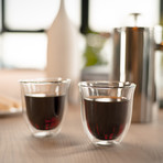Jaar Insulated Double-Wall Glass Cups // Set of 2