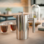 Press Double-Wall Insulated French Press // Silver (11.8oz)