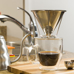 PRECISEBREW Pour Over Coffee Dripper Set + Double Layer Mesh Filter