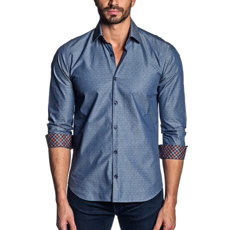 Clyde Button-Up // Dark Blue Denim (S)