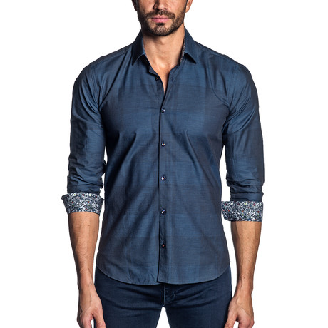 Francesco Button-Up // Midnight Blue (S)