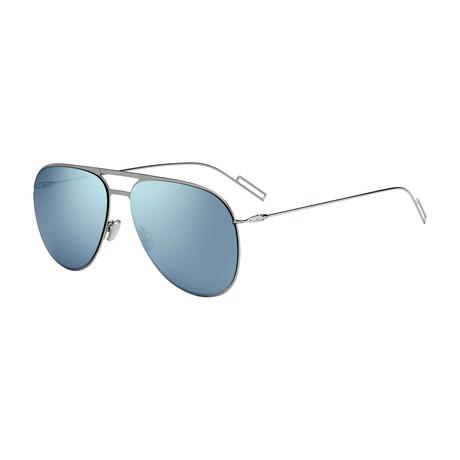 Men's 0205S-06LB-599O Sunglasses // Ruthenium + Azure Mirror