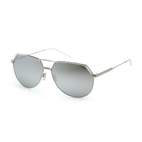 Men's Ridings 085L-62RL Sunglasses // Palladium White + Silver Mirror