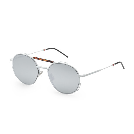 Men's 0234S-0AHF-54KU Sunglasses // White Havana + Gray Silver