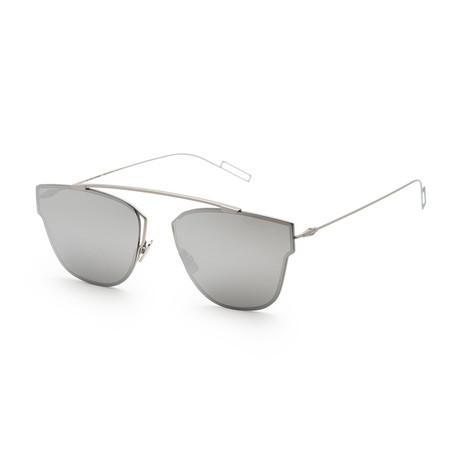 Men's 0204S-0011-570T Sunglasses // Matte Palladium + Silver Mirror