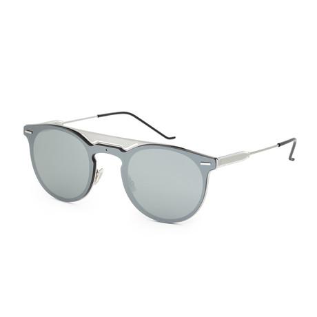 Men's Round Sunglasses // Ruthenium + Gray Silver