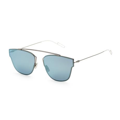 Men's 0204S-0KJ1-572K Sunglasses // Dark Ruthenium + Azure Mirror