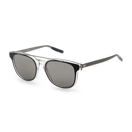 Men's Black Tie Sunglasses // Black Crystal Ruthenium + Black Mirror