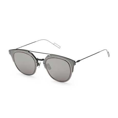 Men's Compo S10S-0003-62A9 Sunglasses // Matte Black + Gray Silver
