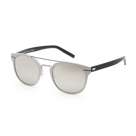 Men's AL135S-0UFO-520J Sunglasses // Matte Silver + Blue + Gray Silver