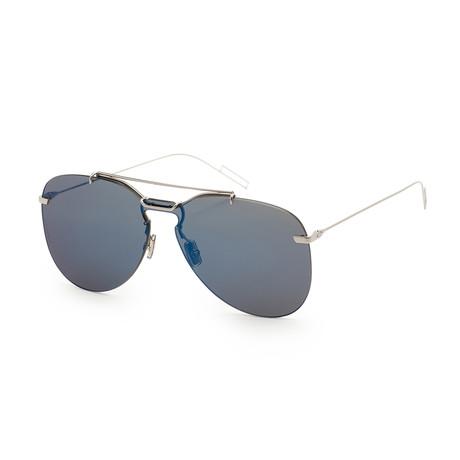 Men's 0222S-0DOH-99SQ Sunglasses // Palladium Blue + Blue Mirror
