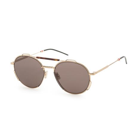 Men's 0234S-006J-54IR Sunglasses // Gold Havana + Gray