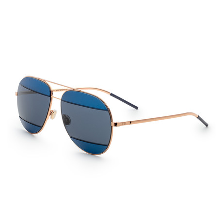 Unisex Aviator Sunglasses // Blue + Red