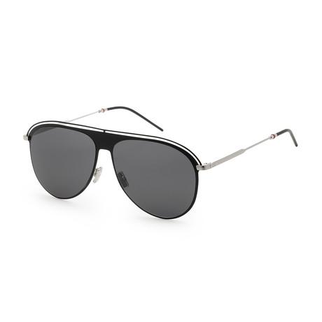 Men's 0217S-0CSA-59UE Sunglasses // Black Palladium + Gray Blue