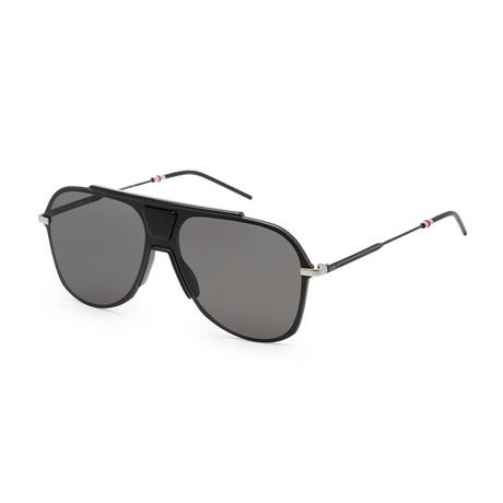 Men's 0224S-0O6W-99FQ Sunglasses // Black Ruthenium + Dark Gray