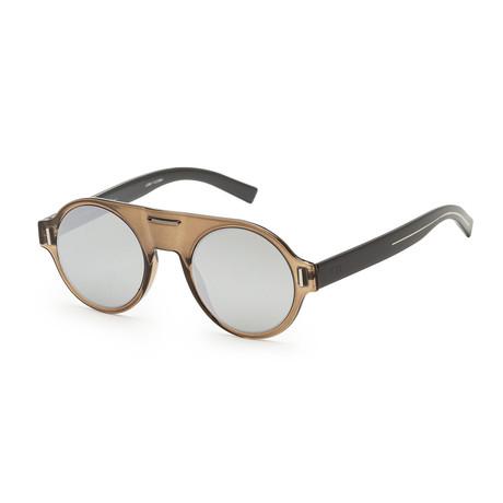 Men's Fraction 2S-03Y5-4783 Sunglasses // Khaki + Gray Silver