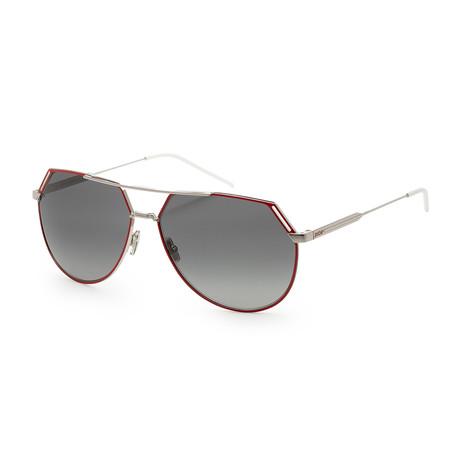 Men's Ridings 0KWX-62RR Sunglasses // Palladium Red + Dark Gray Gradient