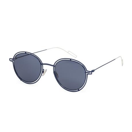 Men's Round Sunglasses // Palladium Blue