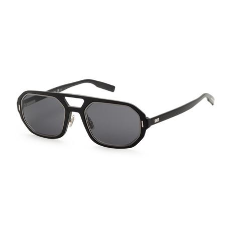 Men's AL1314S-0RZZ-54S5 Sunglasses // Metallic Black Dark Ruthenium + Gray Blue