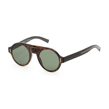 Men's Fraction 2S-0086-4770 Sunglasses // Dark Havana + Green