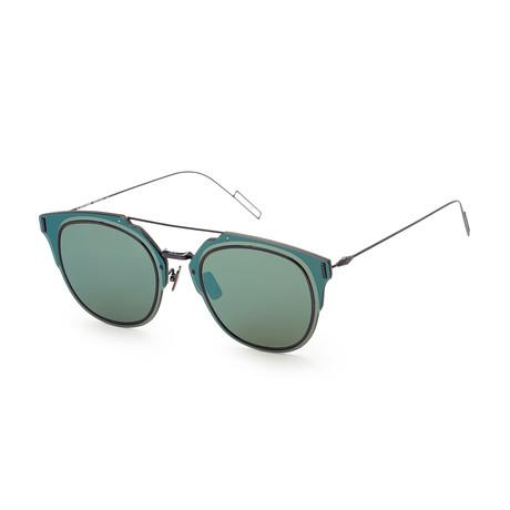 Men's Compo 1FS-0A2J-65A9 Sunglasses // Light Blue + Brown