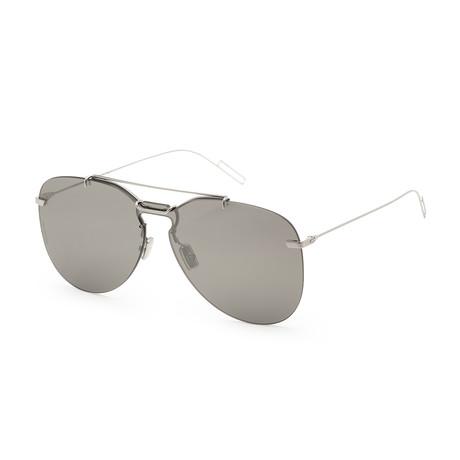 Men's 0222S-0010-99C6 Sunglasses // Palladium + Gray Silver