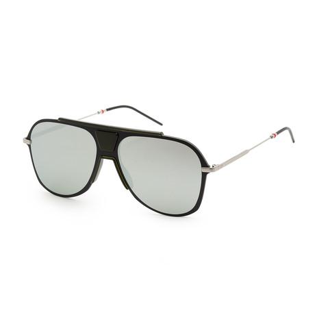 Men's 0224S-03OL-992K Sunglasses // Black Crystal Ruthenium + Black