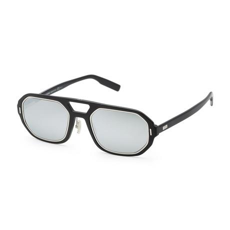 Men's AL1314S-0P5I-541I Sunglasses // Metallic Black Palladium + Silver Mirror
