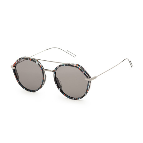 Men's 0219S-04NN-53IR Sunglasses // Spotted Black Ruthenium + Gray