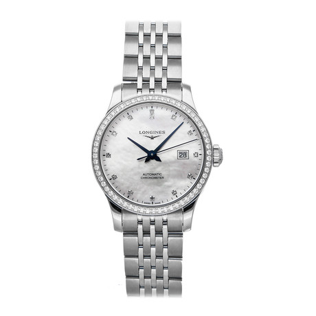 Longines Ladies Record Automatic // L2.321.0.87.6 // Pre-Owned